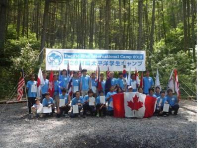 環太平洋学生キャンプの仲間たち